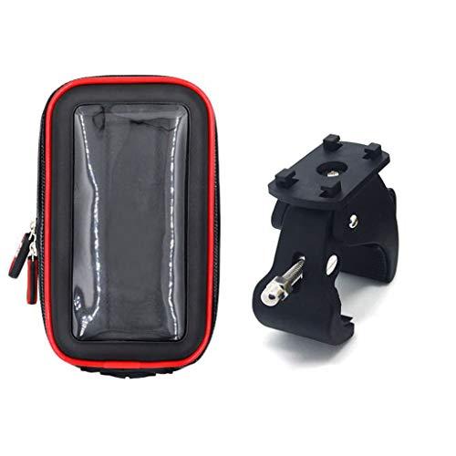 Ocobudbxw Bolsa de Manillar Moto Impermeable con Pantalla táctil