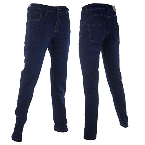 Moon Girl Damen Jeans Hose Winterhose Thermohose Winterjeans Fleece Gefüttert W30 W31 W32 W33 W34 W35 W36 W37 W38 M39 (W35)