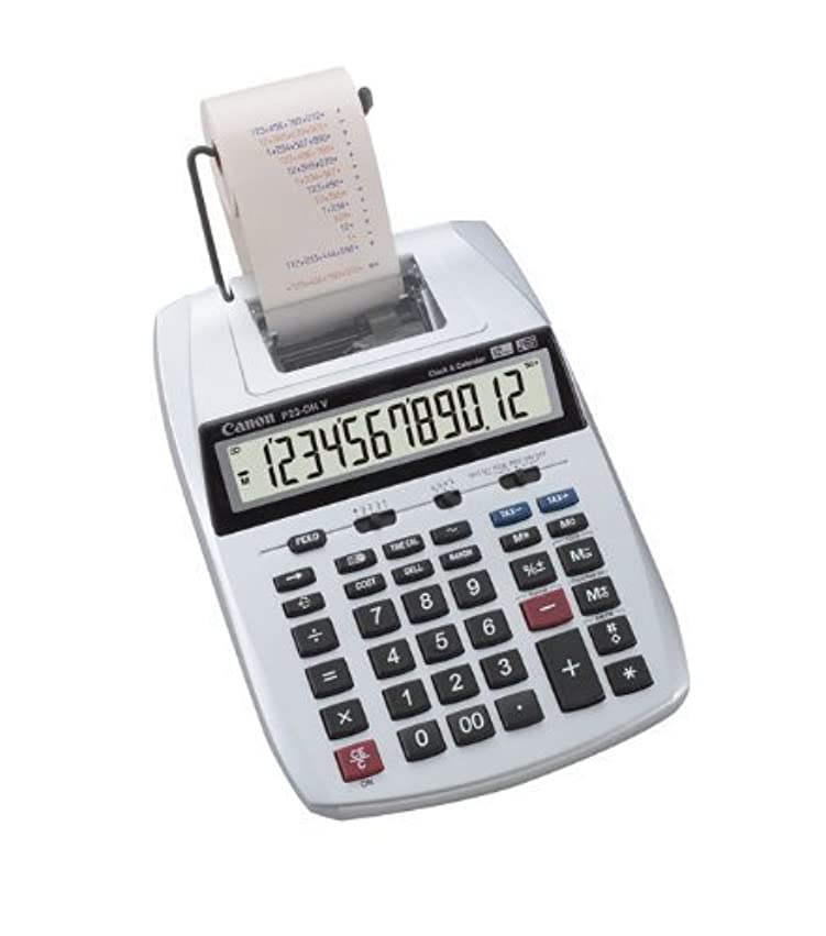 キャンベラペット減るCANON 加算機プリンター電卓 P23-DHV