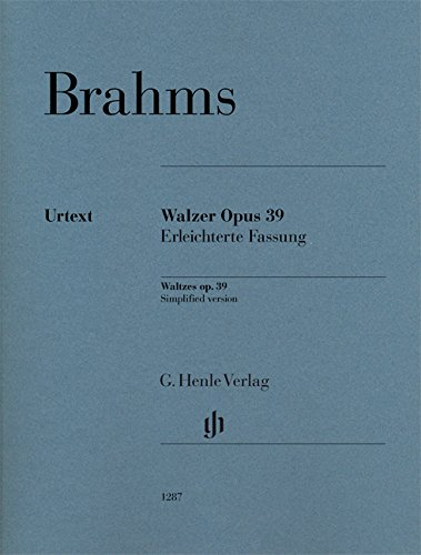 Walzer op. 39 - Erleichterte Fassung für Klavier zu zwei Händen