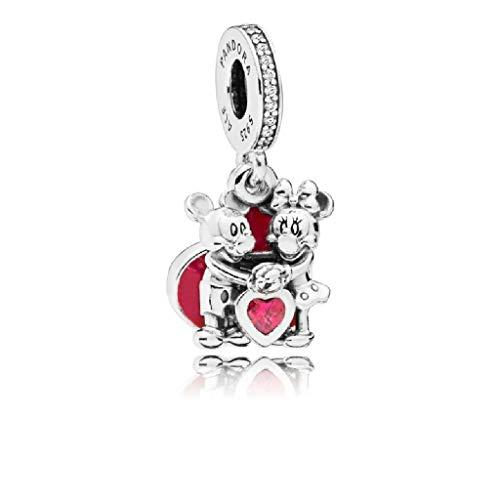 PANDORA Charm Colgante Minnie y Mickey con Amor 797769CZR