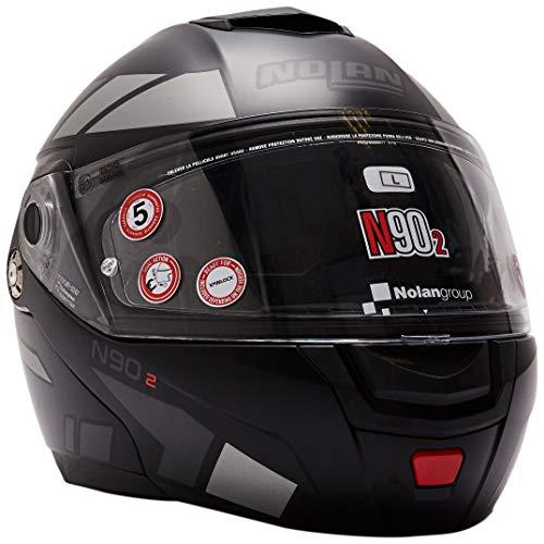 Nolan Herren N90-2 Euclid N-com Flat Black L Helmet, L
