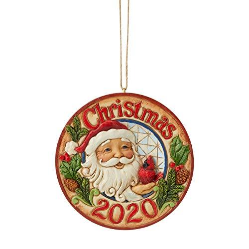 Enesco Jim Shore Heartwood Creek Santa with Cardinal 2020 DatedOr Figurine