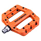 ROCKBROS Fahrradpedale Nylon Composite Flatpedale 9/16 Mountain Bike Pedale 3 Bearing rutschfest Wasserdicht Anti-Staub