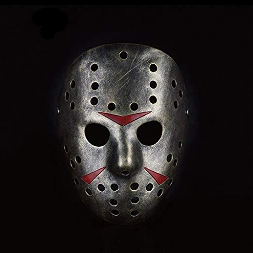 LFOZ Vintage Adultos Máscara De Halloween Máscara De Hockey Festival Hacker Disfraz Cosplay Horror Prop Máscara Facial (Color : B)