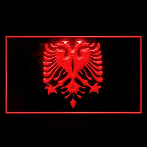 tigerneon 230107 Albanian Eagle Flag Modern Tattoos Design Display LED Light Sign