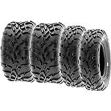SunF 25x8-12 25x11-12 ATV UTV Tires 6 PR Tubeless A010 [Bundle]