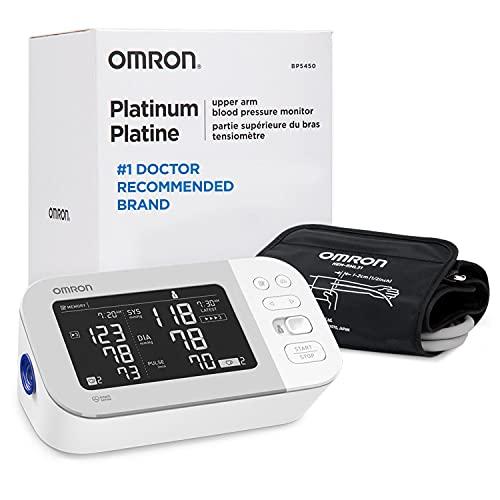 OMRON Platinum Blood Pressure Monitor, Premium Upper Arm Cuff, Digital...