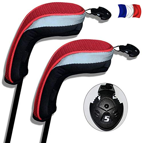 FINGER TEN Couvre Club De Golf Bois Housses Interchangeables sans Etiquette Hybrid Driver Fairway...