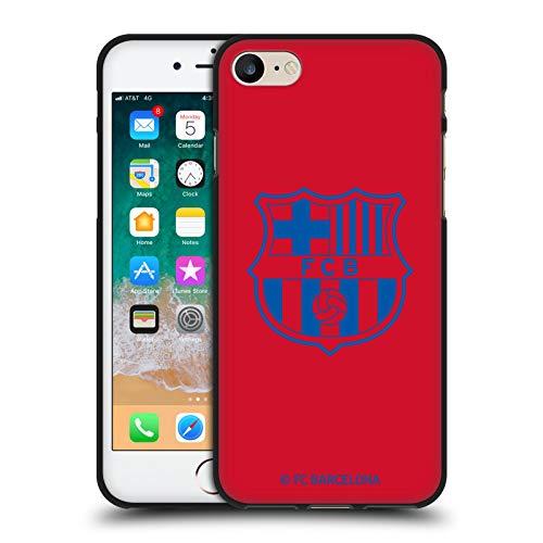 Head Case Designs Oficial FC Barcelona Rojo Crest Patterns Funda de Gel Negro Compatible con Apple iPhone 7 / iPhone 8 / iPhone SE 2020