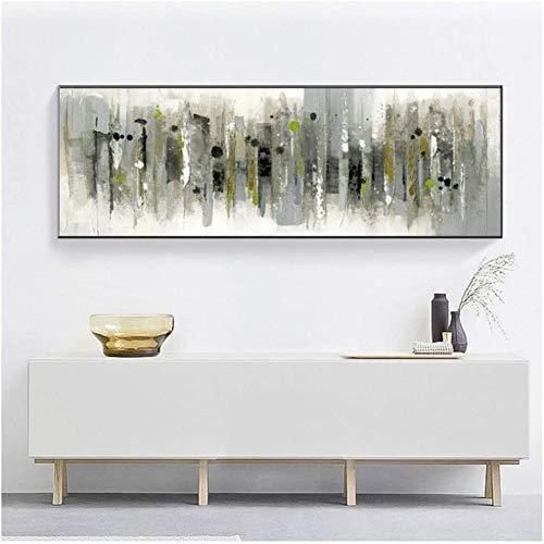 Surfilter Impresión en lienzo Arte abstracto moderno Pintura al óleo Carteles e impresiones Arte de la pared Cuadro abstracto azul marino para la decoración de la sala de estar 23.6