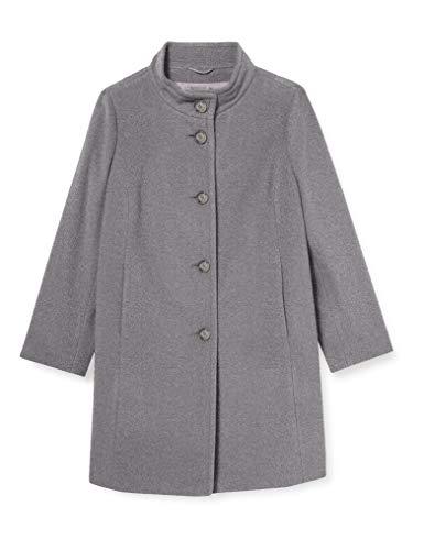 GERRY WEBER Edition Womens Mantel Wolle Trenchcoat, Grau Gemustert, 44