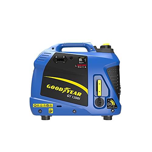 Goodyear Generador eléctrico para exteriores Inverter gasolina, 1100 W, 2,9 l. , motor de 4 tiempos OHV, 54cc