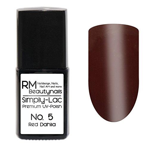 Simply-Lac Premium UV-Polish Nr. 5 Red Dahlia Dunkel Rot 10ml Nagelgel UV-Nagellack RM Beautynails