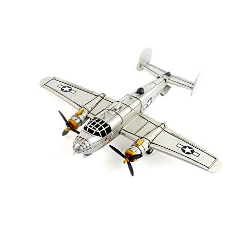 MIAOLIDP Modelo de avión de Hierro Forjado Vintage - Segunda Guerra Mundial Ejército de EE. UU. B-25 Bombardero Mitchell - Edición Fina - Decoraciones Modelo - Regalos