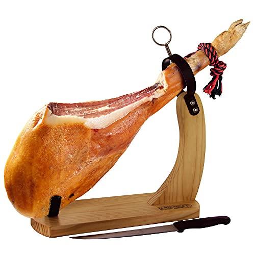 Porta prosciutto spagnolo con coltello modello Huelva | Supporto prosciutto...