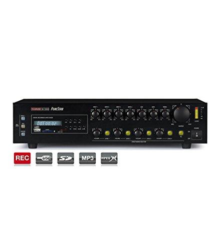 Fonestar Verstärker MA-125GU-MAX 100V 4x120W / 8-Ohm 24VDC / 230VAC USB / SD / MP3 / REC