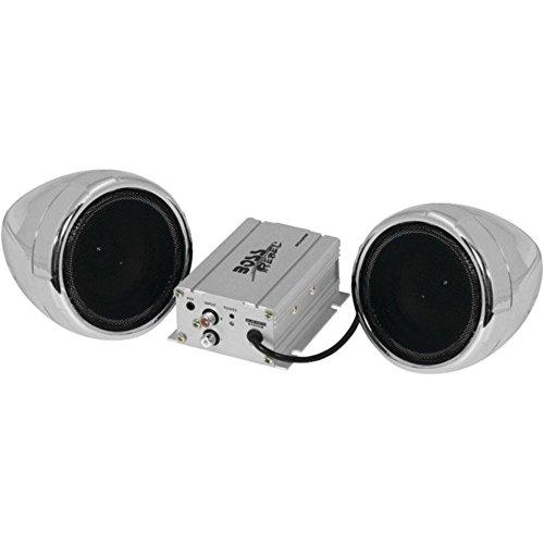 BOSS Audio MC420B 3 600-Watt Motorcycle/All-Terrain Speaker & Amp System (Silver, with Bluetooth(R) Audio Streaming) Consumer Electronics