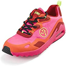 Zumba Air Classic Comfy Gym Shoes Athletic Dance Fitness Workout Shoes for Women, Pink Lo, 7.5