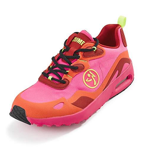 Zumba Air Classic Gym Fitness Turnschuhe Sportsliche Athletic Tanzschuhe Damen, Pink Lo, 39 EU