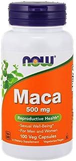 Now Foods Maca, 100 Capsules / 500mg (Pack of 2)