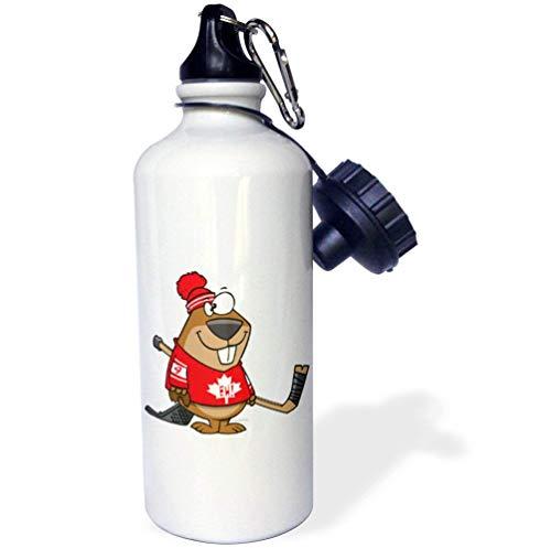 qidushop Silly - Botella de Agua para Hacer Hockey Canadiense, Color Blanco, para Oficina, Yoga, Bicicleta, Camping, Deportes
