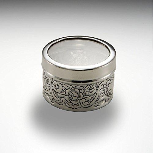 Royal England Boîte Ronde Porte-Bijoux en Argent de Style Sheffield Cesellato cod.61609 cm 4,5h diam.8 by Varotto & Co.