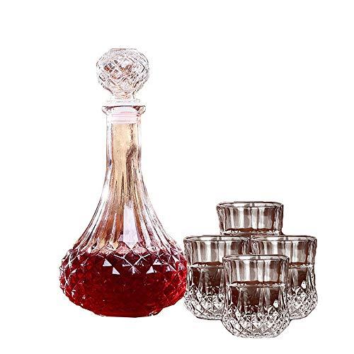 UKE Cristal Decanter, 750Ml Vino Tinto De La Jarra del Arte De La Cocina Whisky Jarra De Cristal 100% Sin Plomo De Vidrio Cristalino De Los Regalos del Vino, Accesorios del Vino,B