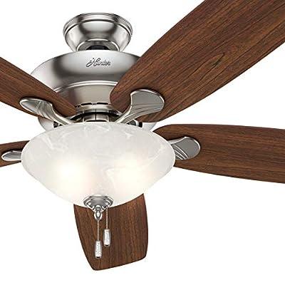 Hunter Fan 60 inch Casual Brushed Nickel Indoor Ceiling Fan with Light Kit (Renewed)