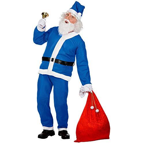 Widmann 15365 Kostüm Weihnachtsmann, Unisex– Erwachsene, Blau, Einheitsgröße