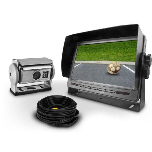 Carmedien Shutter Kamera Video Rückfahrsystem cm-SKRFS2 12V ~ 24V Rückfahrkamera Set für Wohnmobil LKW