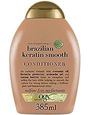 OGX Acondicionador sin Sulfatos para Pelo Rizado, Queratina Brasileña, 385 ml