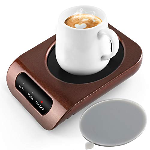 MENGMAOMAO Mug Warmer - Coffee Mug Warmer for Desk with Auto Shut Off, Easy to Use and Clean, Enjoy Warm Coffee Tea Milk & Tea Anytime at Home and Office 110V 35W Best Gift for Coffee Lovers
