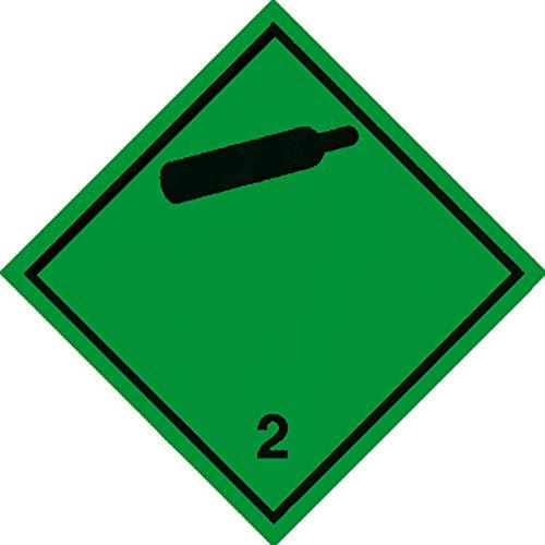 Aufkleber Gefahrzettel gemäß Vorschrift ADR/RID Bild-Nr. 109, Folie selbstklebend 10 x 10 cm (Gefahrgutaufkleber) praxisbewährt, wetterfest