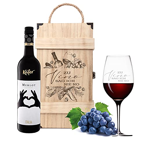 Leonardo Weinglas mit Gravur - Zu Vino...