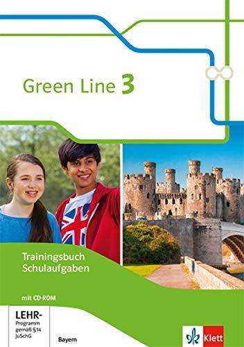 Green Line 3. Ausgabe Bayern: Trainingsbuch Schulaufgaben, Heft mit Lösungen und CD-ROM 7. Klasse (Green Line. Ausgabe für Bayern ab 2017)