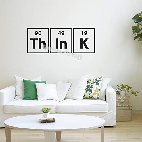 Denk aan het citaat muurstickers periodiek systeem der elementen wetenschappelijk grappig sticker woonkamer bank achtergrond klaslokaal kunst poster 80x30cm