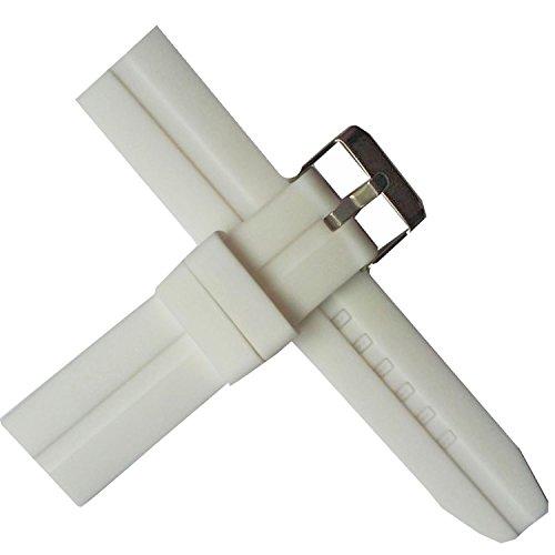 Correa de silicona blanca para reloj de buceo, 22 mm, impermeable, transpirable