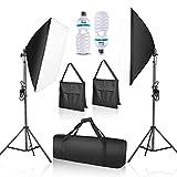 Emart Softbox Lighting Kit Photo Studio Equipment Photography Continuous Lighting 105W E27 Socket 50 x 70cm Reflectors...