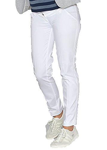 Christoff Pantalon Extensible sommerleichte Jeans Look Femmes Mode de Grossesse 530/46 Skinny/Slim fit Confort Taille Haute - Crème, 48