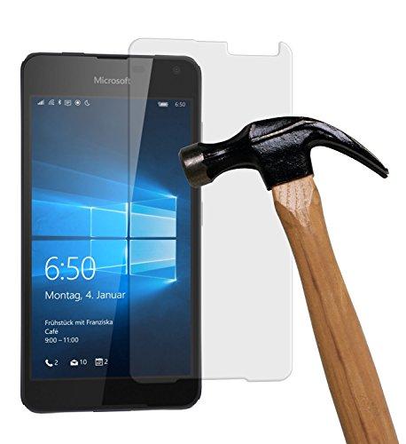 yayago Bildschirmschutzglas 0,26 MM Bildschirmschutzfolie für Microsoft Lumia 650 Glasfolie Hartglas 9H (bewusst Kleiner als das Bildschirm, da Dieses gewölbt ist)