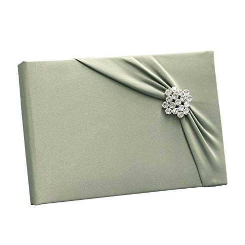 Ivy Lane Design Garbo Collection Wedding Guest Book, Sage Green