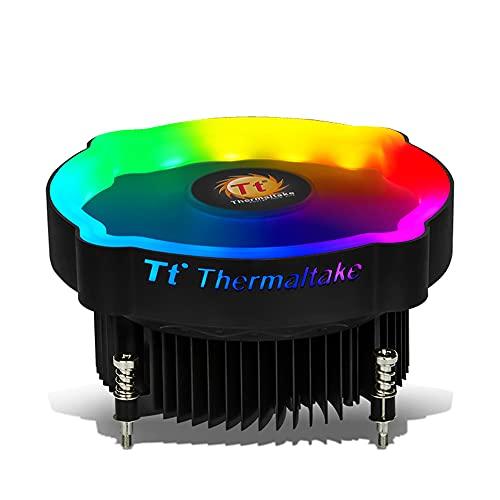 Festnight Enfriador de Aire para CPU RGB Operación silenciosa/Configuración de Empuje/Aleta de Aluminio/Cojinete hidráulico/para CPU Intel Color RGB estático