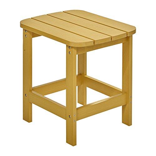 NEG Design Adirondack Tisch Marcy (gelb) Westport-Table/Beistelltisch aus Polywood-Kunststoff (Holzoptik, wetterfest, UV- und farbbeständig)
