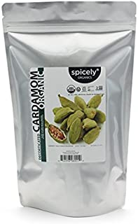 Spicely Organic Cardamom Decorticated 1 Lb Bag Certified Gluten Free