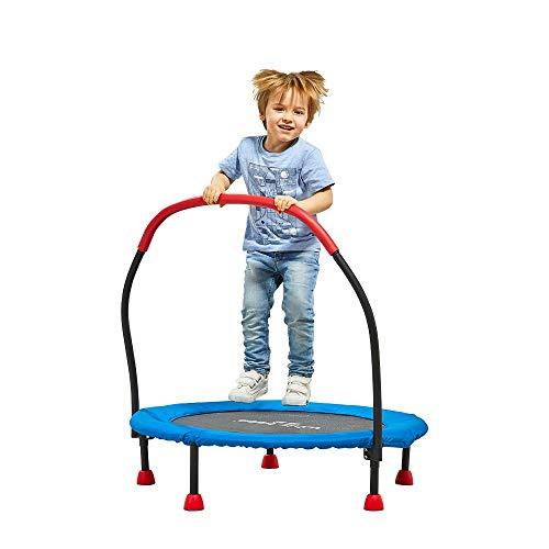 LY 36-inch trampolines voor kinderen opvouwbaar met handvat Bar | Rustige en veilige bounce |Hele Body Aerobic Oefening|100kg belasting