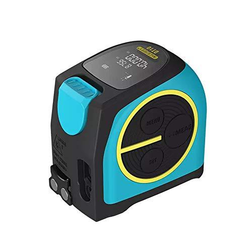 ZEYUE Laser-Maßbander, 2 in 1 Laser-Entfernungsmesser mit LCD-Digitalanzeige Magnethaken USB-Aufladung