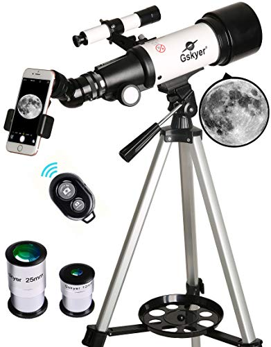 Gskyer Telescope, 70mm Aperture 400mm AZ Mount Astronomical Refracting Telescope for Kids Beginners - Travel Telescope with Carry Bag, Phone Adapter...