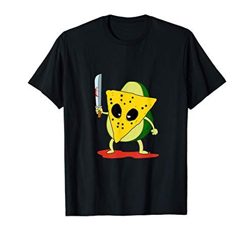 Divertido Taco Killer Mscara de Halloween Tacos Camiseta