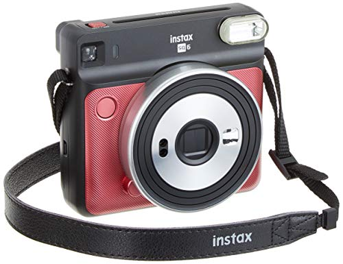 Fujifilm Instax SQ6 - Cámara analógica instantánea Formato Cuadrado, Color Rojo rubí